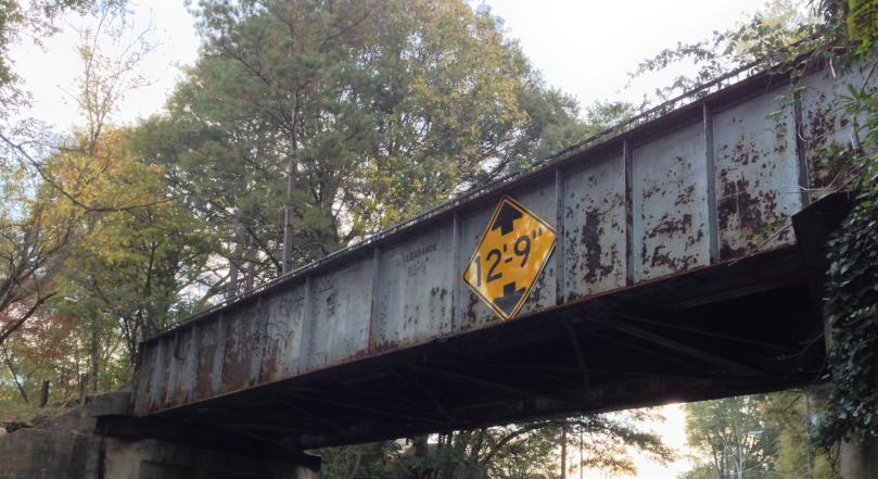 The first bridge crossing MLK nearing downtown Atlanta.